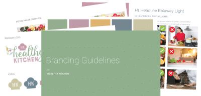Branding guidelines using Google Slides