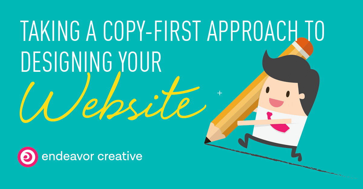Taking a copy-first approach to designing your website