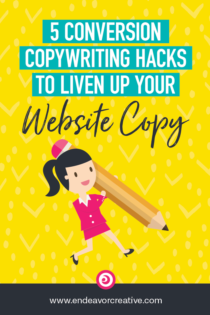 Use these quick tips to help you punch up your website copy wherever you want a user to take action on your website. #ConversionCopywriting