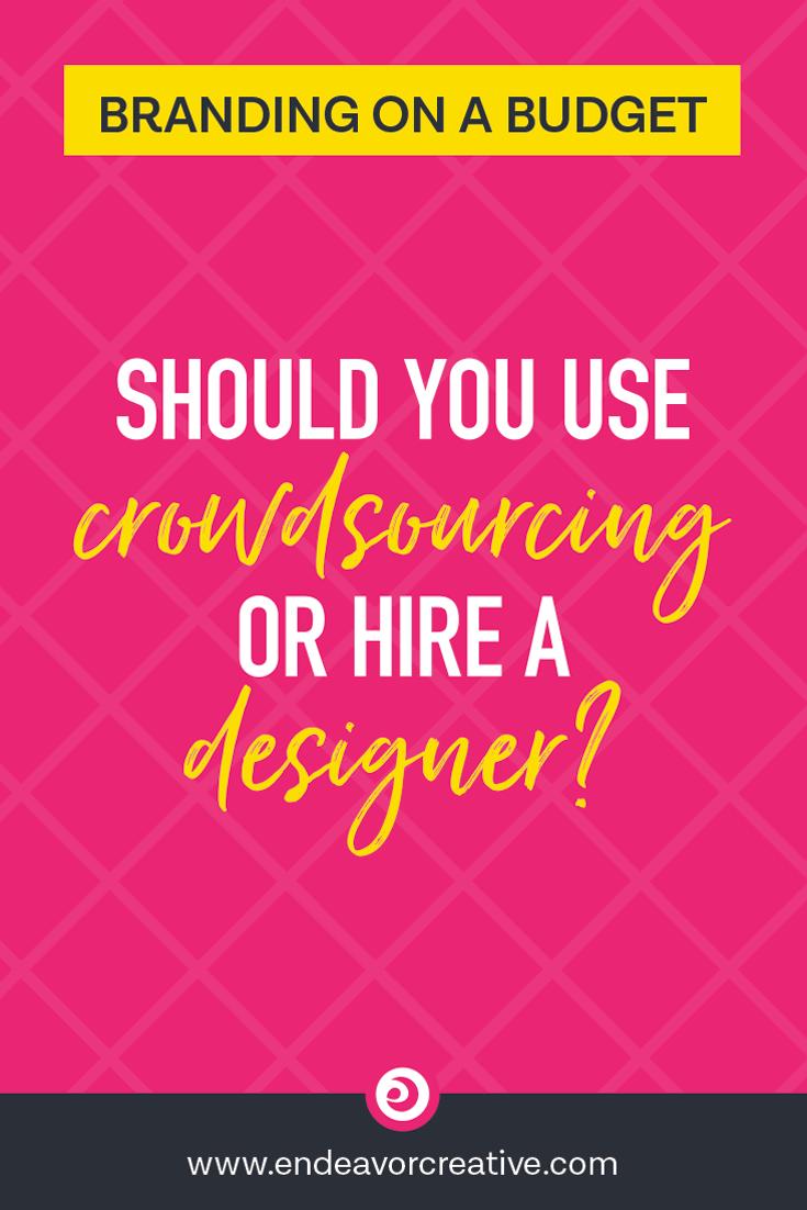 Should you use crowdsourcing or hire a designer?