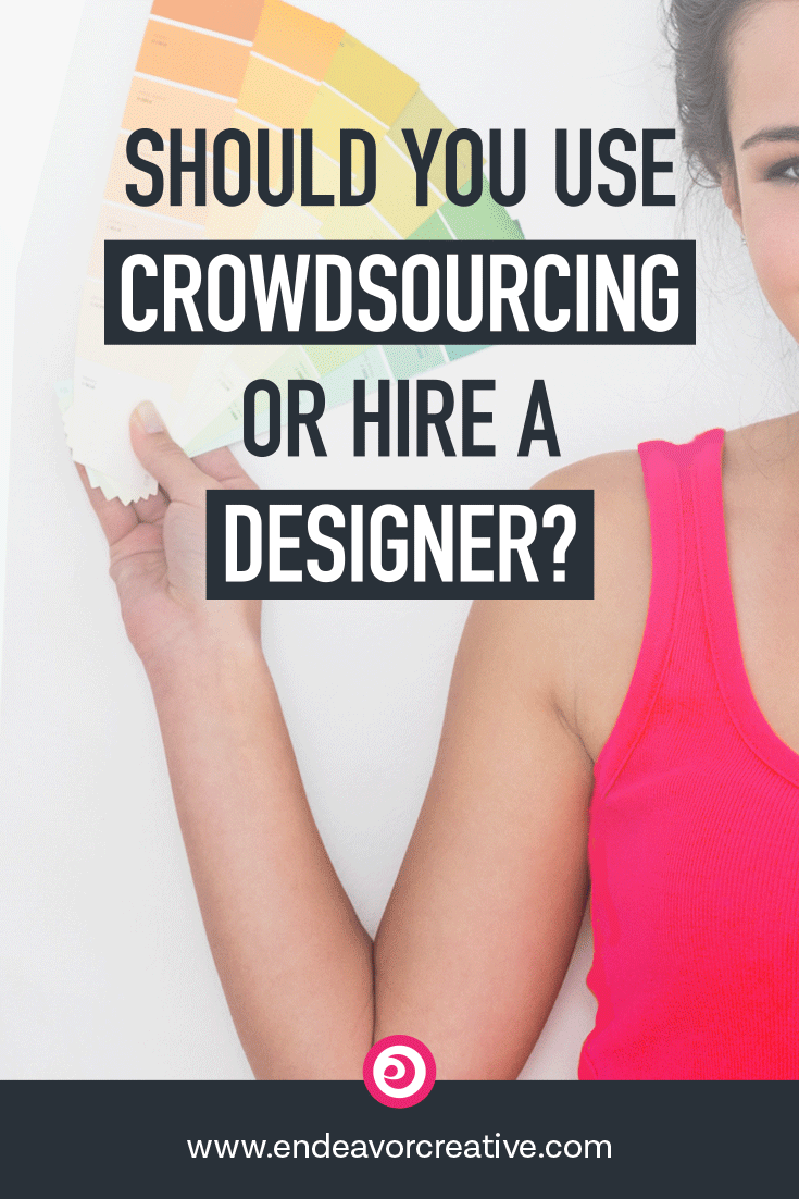 Considering branding for your new business? Not sure whether crowdsourcing or hiring a designer is right for you? I walk you through the pros and cons of each approach!   #branding #graphicdesgn