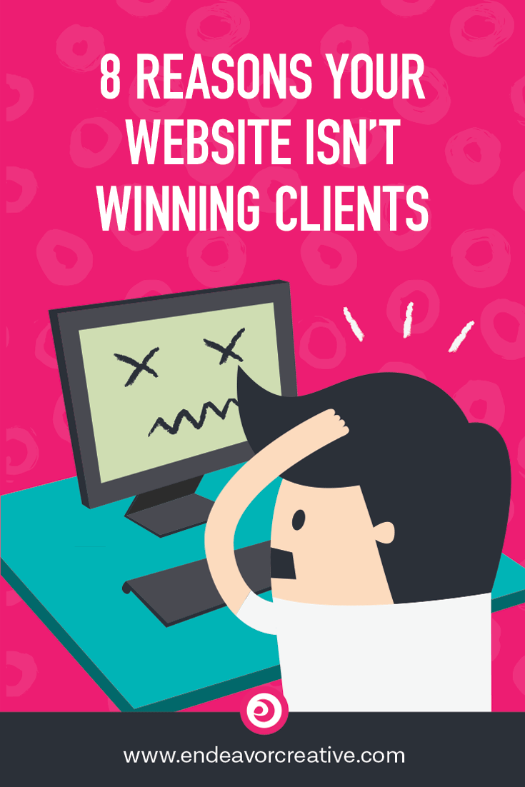 If you're struggling to get clients, your website might be letting you down in some big way. Here are 8 reasons why your website is failing to convert clients and how to fix them.   #websiteoptimization #solopreneur #onlinemarketing