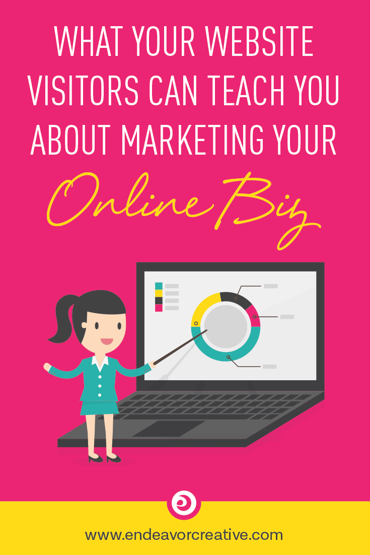 Your site visitors can teach you how to focus your #onlinemarketing efforts. Learn how!   #smallbusiness #entrepreneur #solopreneur #marketing #analytics #websiteoptimization
