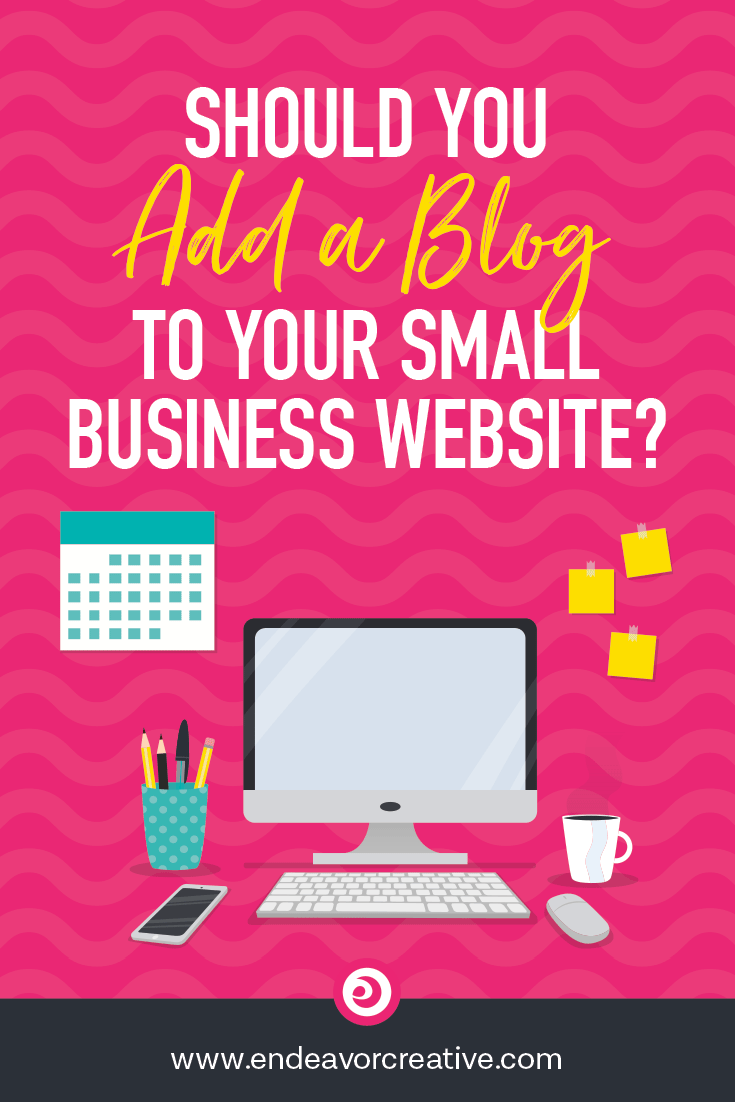 Should you add a blog to your small business website? I cover the pros and cons and the things you should consider before you decide... #smallbiz #onlinebiz #marketing #smallbusiness #entrepreneur #contentmarketing