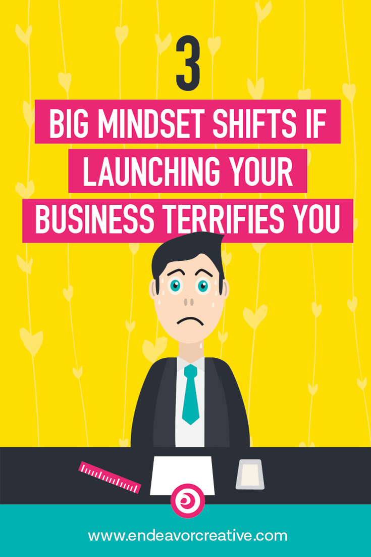 Entrepreneur fear is real, y'all. Here are the biggest mindset shifts you must make if you're terrified to launch your business. #solopreneur #smallbusiness #businessmotivation #onlinebusiness #launch