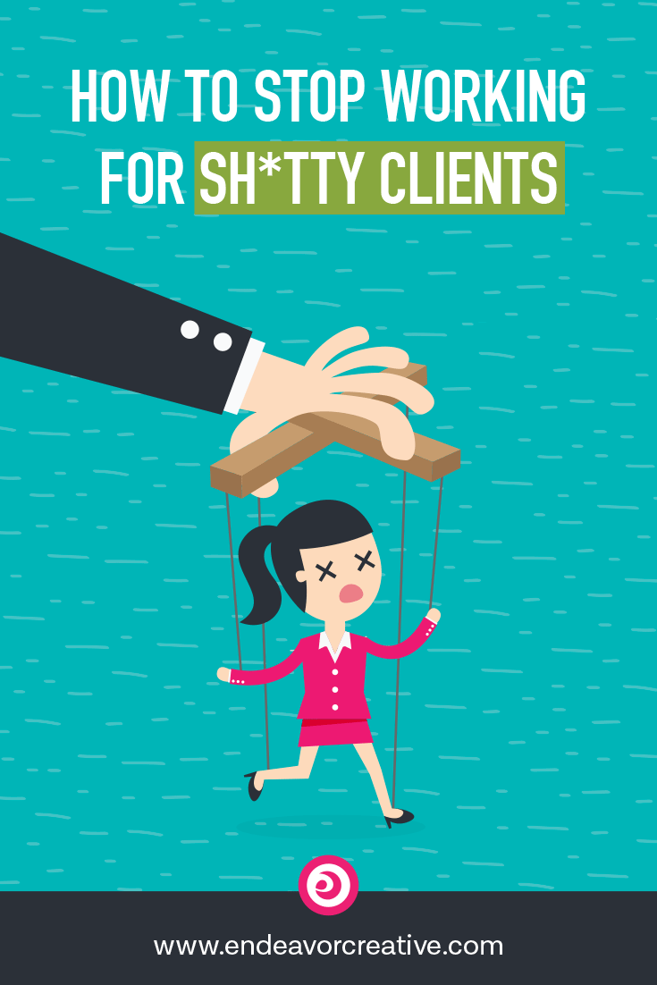 "Do you have a ""shitty client"" story? Of course you do. Here's how to stop attracting the wrong people to your business. #smallbusiness #clientattraction #entrepreneur"