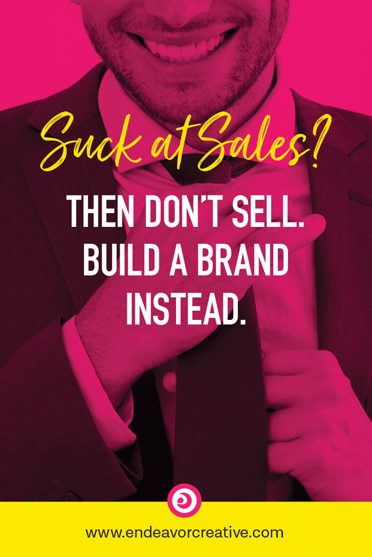 No matter how tiny your biz, you can build a brand that does the selling for you. Here's how...   #branding #smallbusiness #onlinemarketing