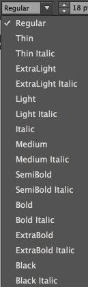 fontstyles
