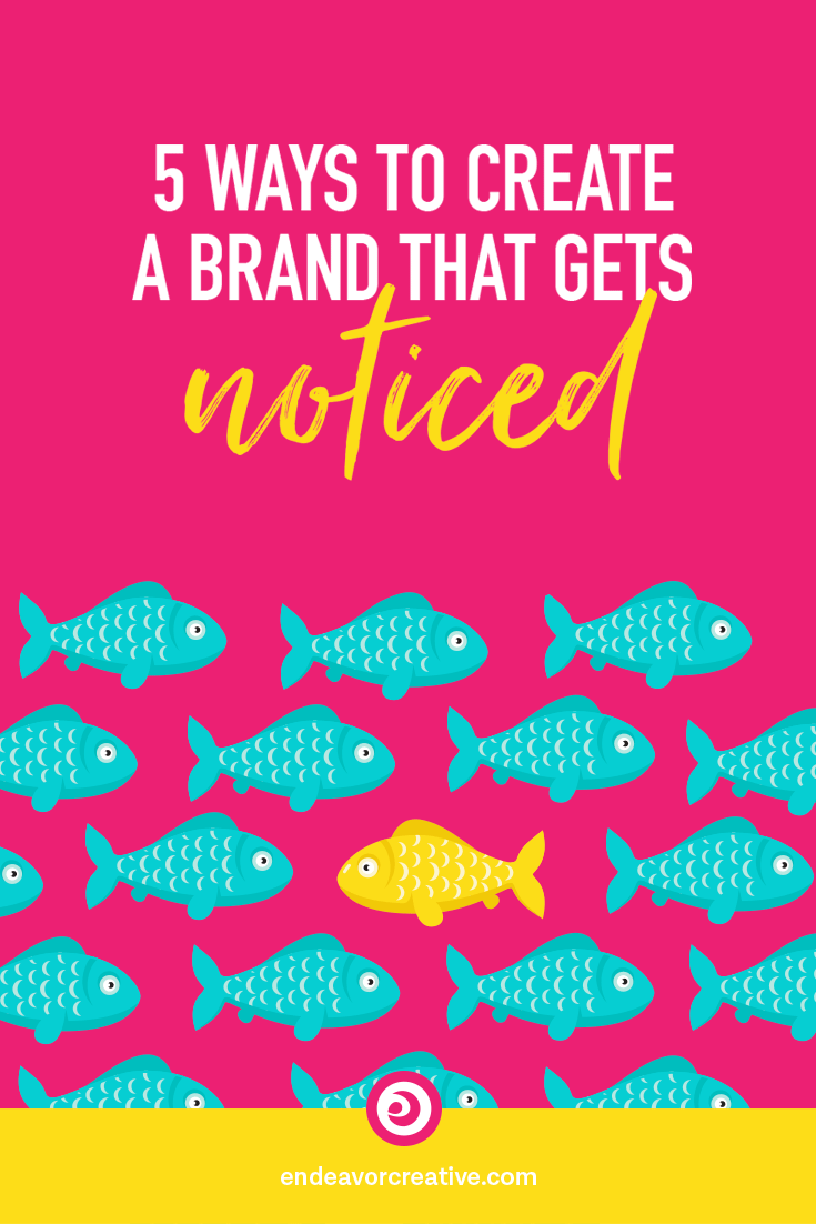 With so much competition for our dream customers' attention, how can we create a brand that gets NOTICED? Here are five ways to stand out... #branding #smallbusiness #personalbrand #mindset