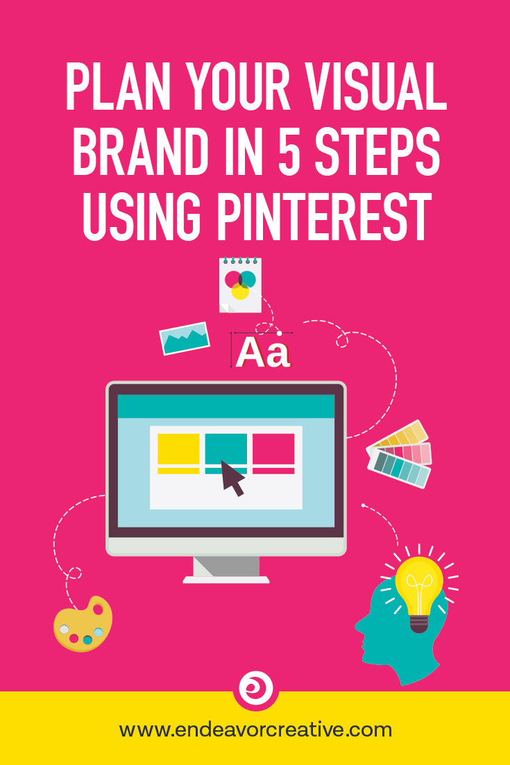 How to create an inspiration board on Pinterest to help you plan your visual brand identity in 5 steps!   #branding #moodboard  #branding #graphicdesign