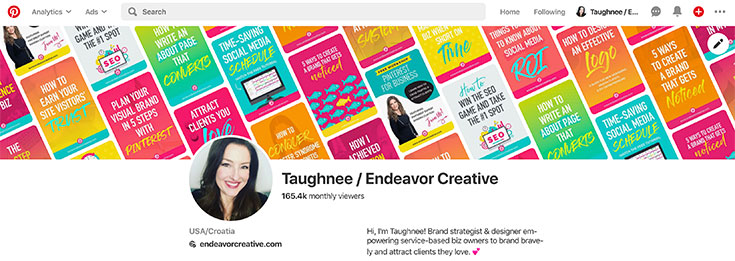 Pinterest Profile Branding