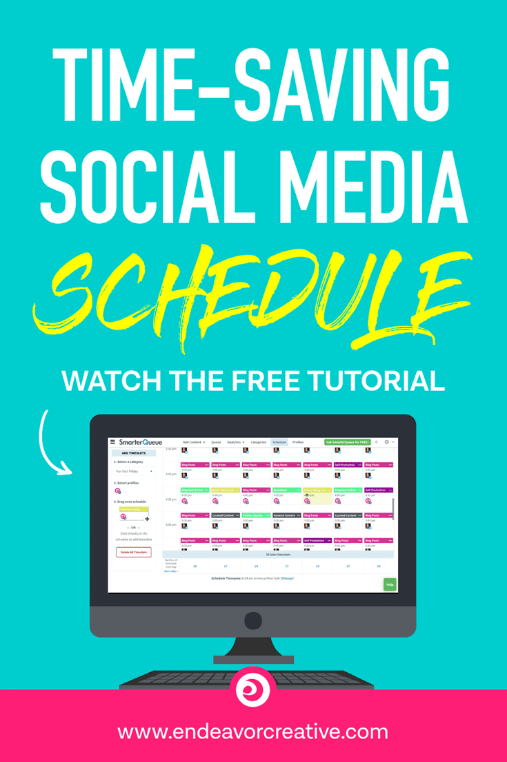 Social Media Posting Schedule with Smarter Queue
