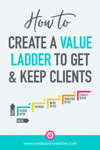 How to create a value ladder