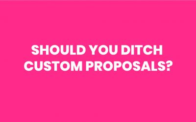 Ditch Custom Proposals & Monetise Your Discovery Process With A Lead Service